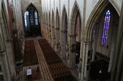 A view of Ulm Münster from the organ loft