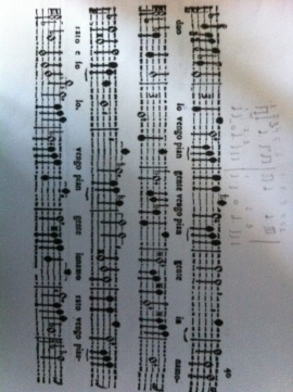 Strozzi score for the concert